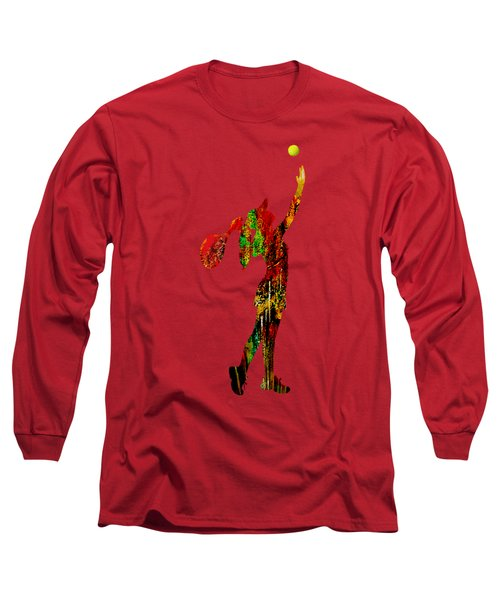 Womens Tennis Collection Long Sleeve T-Shirt by Marvin Blaine