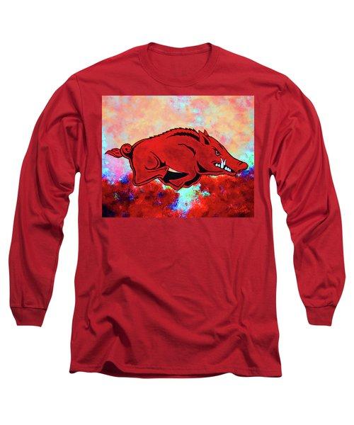 Woo Pig Sooie 3 Long Sleeve T-Shirt by Belinda Nagy