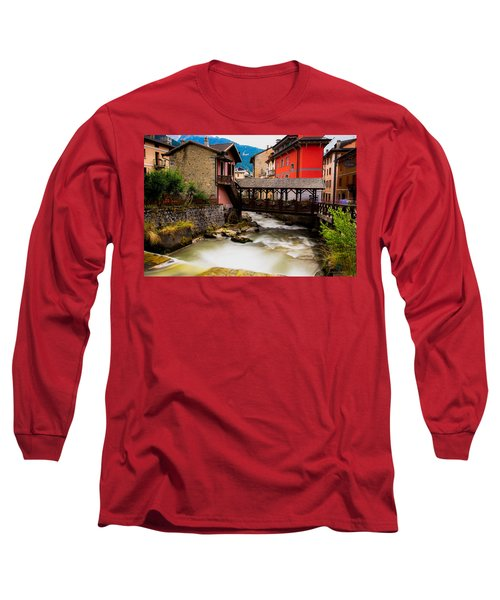 Wood Bridge On The River Long Sleeve T-Shirt
