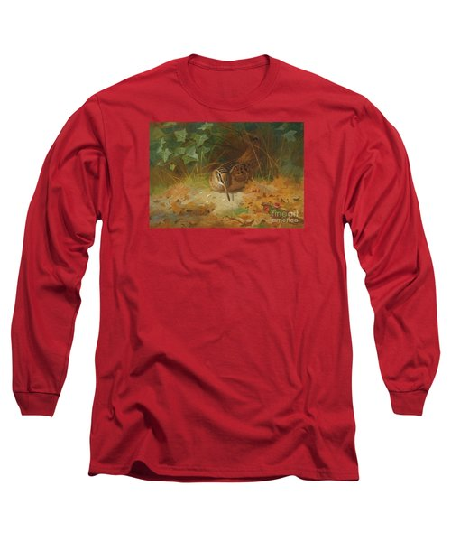 Woodcock Long Sleeve T-Shirt by Celestial Images