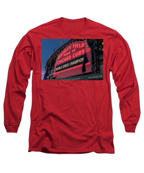 Wrigley Field World Series Marquee Long Sleeve T-Shirt