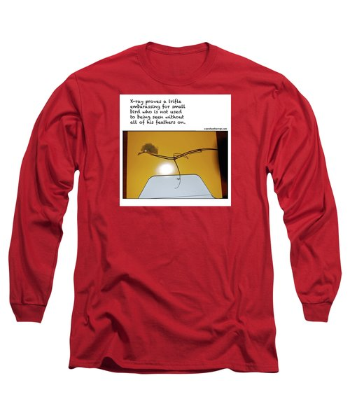 Long Sleeve T-Shirt featuring the photograph X-ray Bird by Graham Harrop