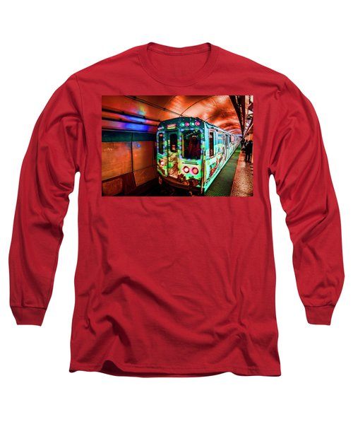 Xmas Subway Train Long Sleeve T-Shirt