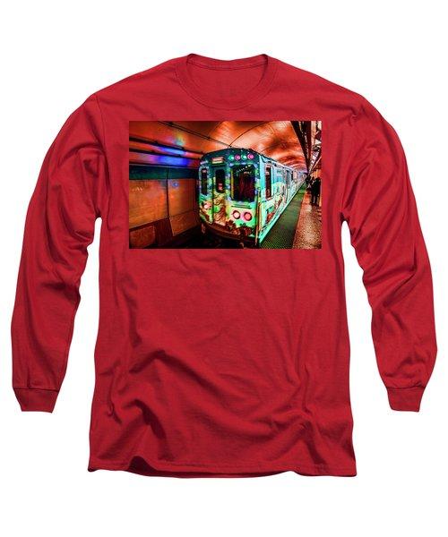 Xmas Subway Train Long Sleeve T-Shirt