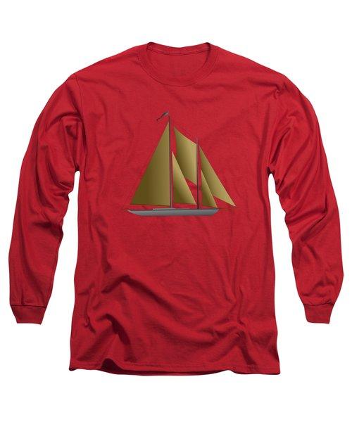 Yacht In Sunlight Long Sleeve T-Shirt