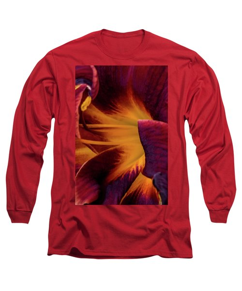 Yellow And Purple Long Sleeve T-Shirt by Jay Stockhaus