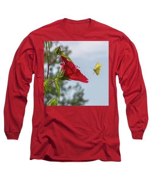 Yellow Butterfly Art Long Sleeve T-Shirt