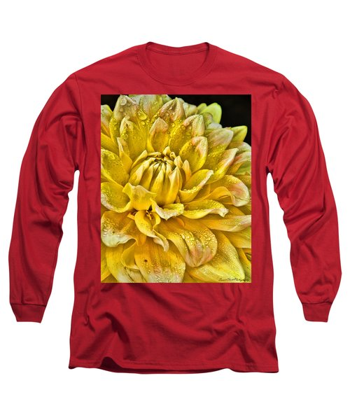 Yellow Dahlia Long Sleeve T-Shirt