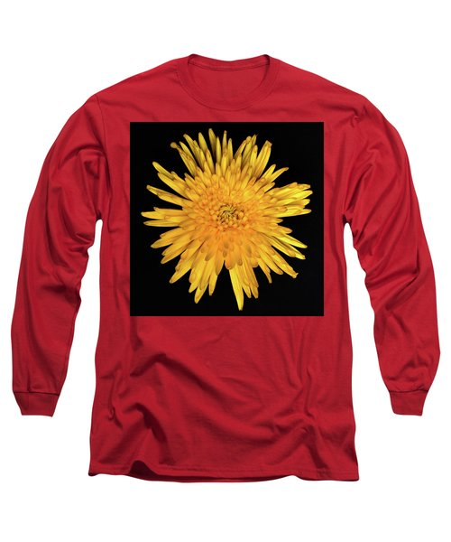 Yellow Flower Macro Long Sleeve T-Shirt