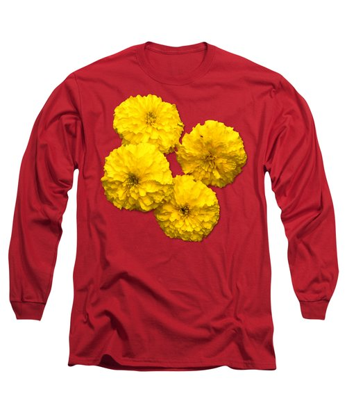 Yellow Flowers Long Sleeve T-Shirt by Bob Slitzan
