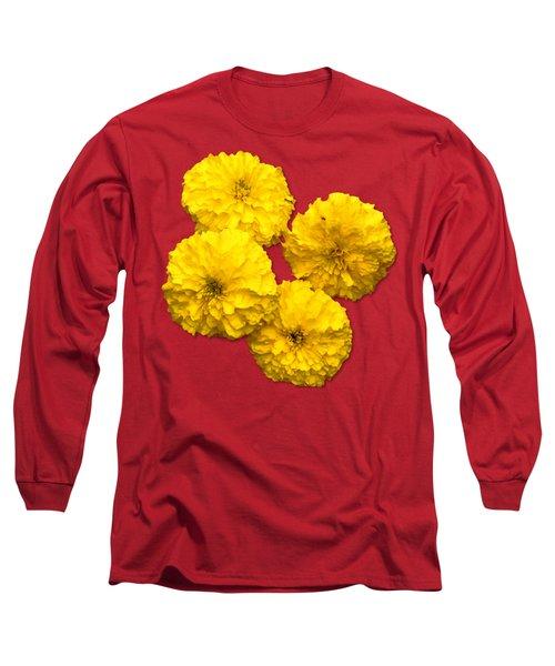 Yellow Flowers Long Sleeve T-Shirt