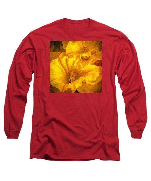 Yellow Flowers Long Sleeve T-Shirt by Lewis Mann