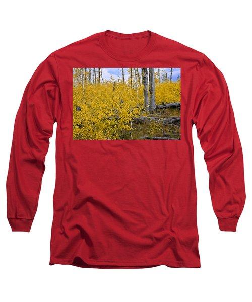 Yellow In Grand Teton Long Sleeve T-Shirt