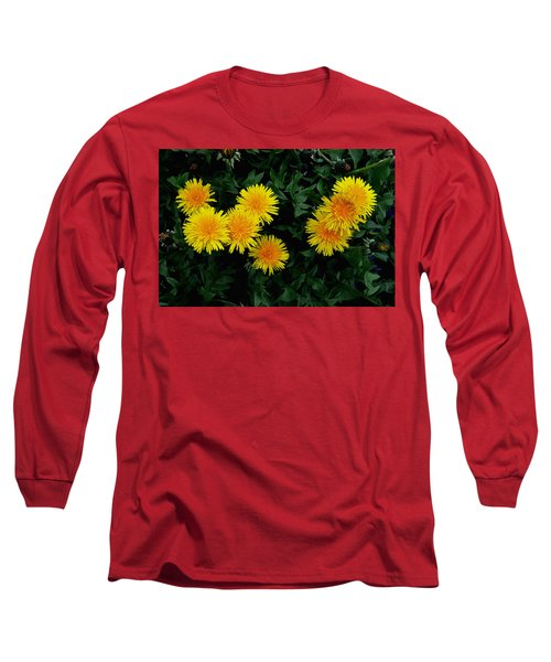 Long Sleeve T-Shirt featuring the photograph Yellow In Green by Dorin Adrian Berbier