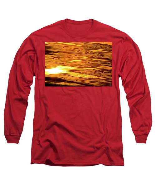 Yellow Light On Water  Long Sleeve T-Shirt