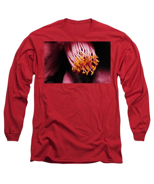 Yellow Pollen 01 Long Sleeve T-Shirt by Kevin Chippindall
