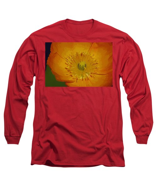 Long Sleeve T-Shirt featuring the photograph Yellow Poppy by Donna Bentley