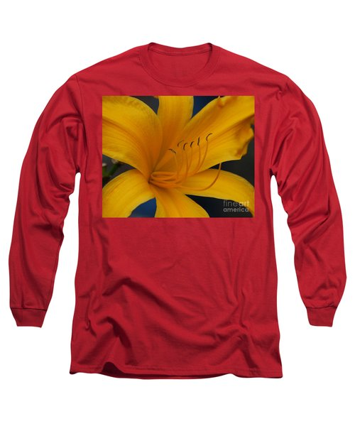 Yellow Tiger Lilly Long Sleeve T-Shirt