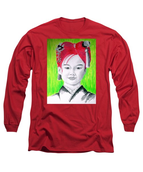 Young Japanese Beauty -- The Original -- Portrait Of Japanese Girl Long Sleeve T-Shirt