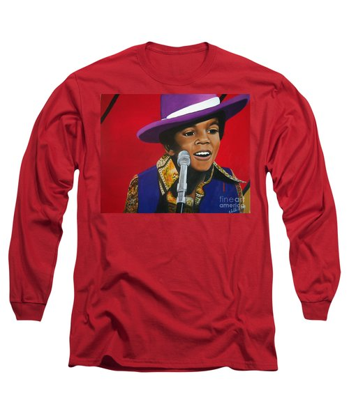 Young Michael Jackson Singing Long Sleeve T-Shirt