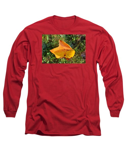 You're Always Leafing Me Long Sleeve T-Shirt by Lew Davis