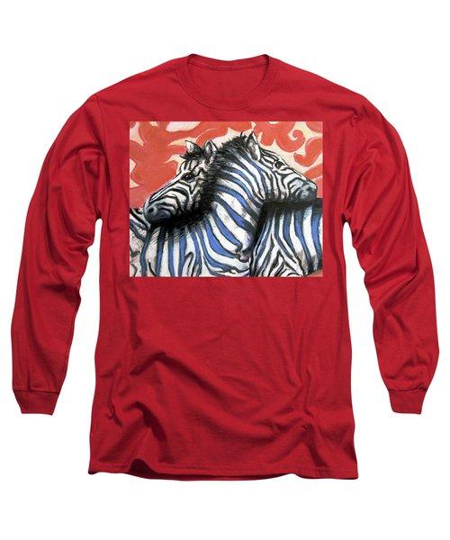 Zebra In Love Long Sleeve T-Shirt