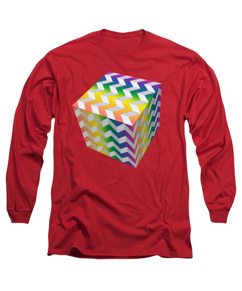 Zig Zag Cube Long Sleeve T-Shirt