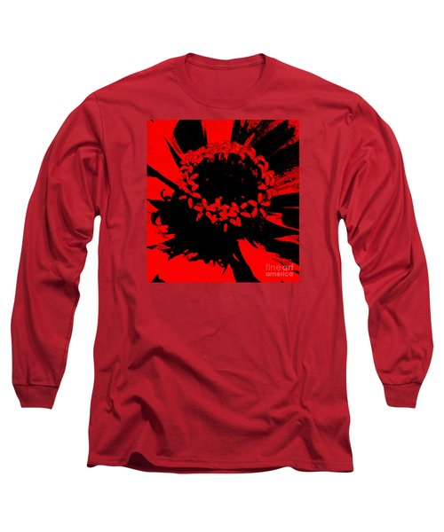 Long Sleeve T-Shirt featuring the photograph Zinnia Crown by Jeanette French