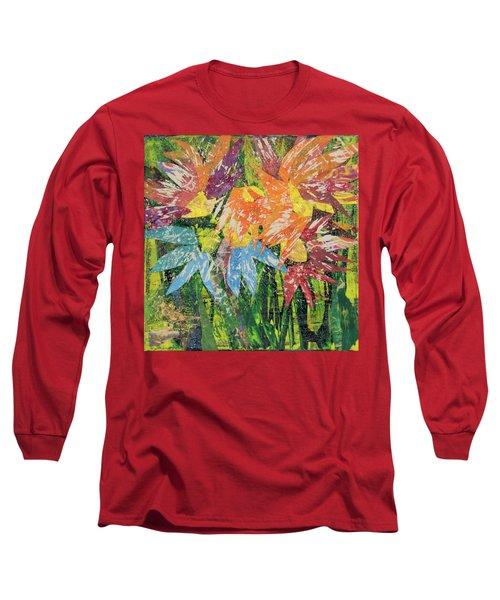 Zinnias Gone Mad Long Sleeve T-Shirt