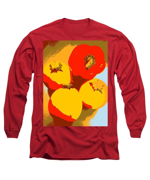 Zucchini And Bell Pepper Long Sleeve T-Shirt
