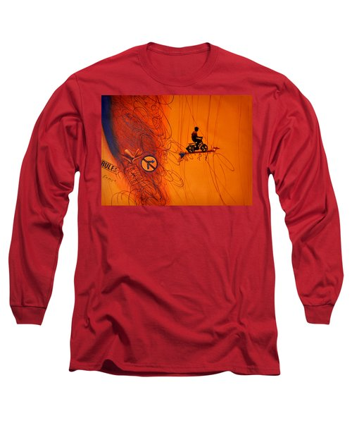 Long Sleeve T-Shirt featuring the painting Somewhere Else by Bliss Of Art
