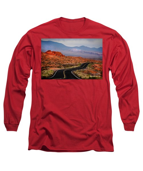 Winding Road In Valley Of Fire Long Sleeve T-Shirt