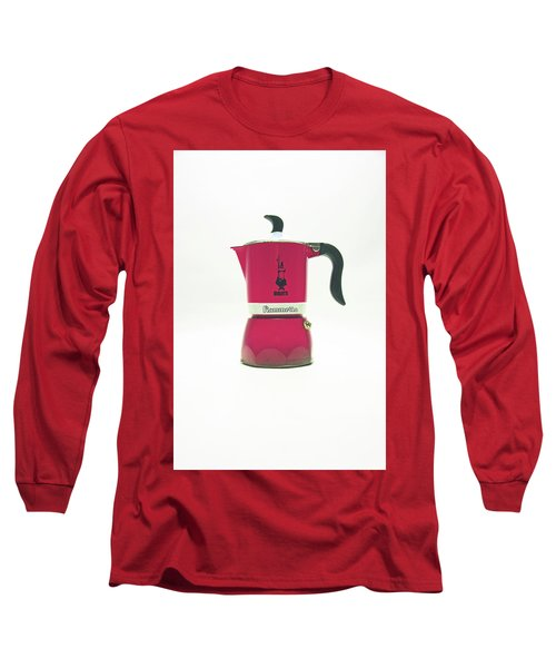 10-05-19 Studio. Red Cafetiere. Long Sleeve T-Shirt