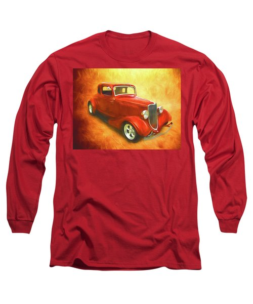 1934 Ford On Fire Long Sleeve T-Shirt