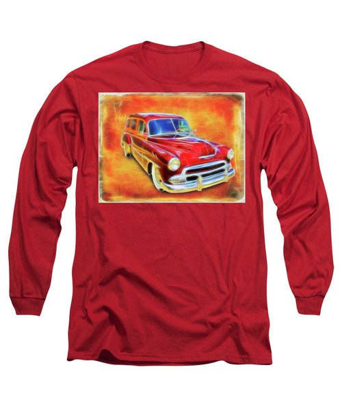 1951 Chevy Woody Long Sleeve T-Shirt