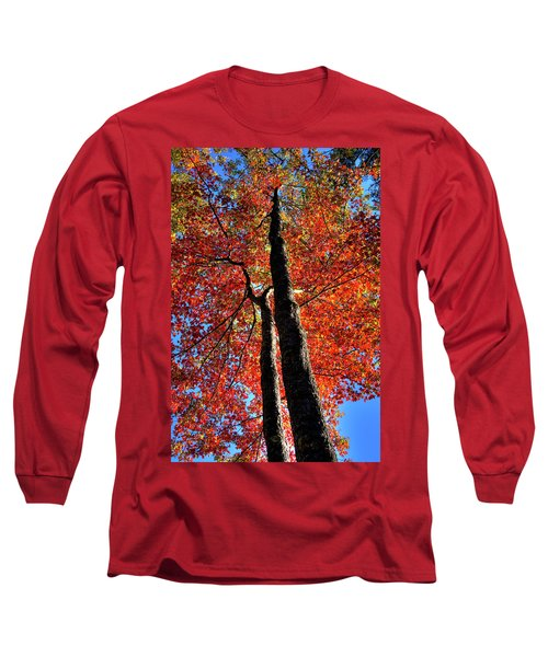 Long Sleeve T-Shirt featuring the photograph Autumn Reds by David Patterson
