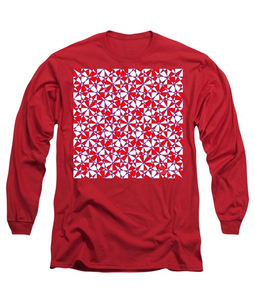 Crazy Psychedelic Art In Chaotic Visual Color And Shapes - Efg22 Long Sleeve T-Shirt
