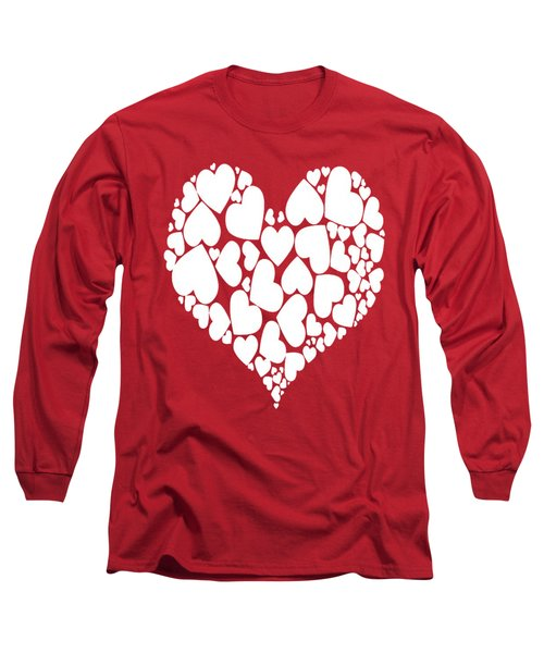 A Heart Full Of Love Romantic Pattern Long Sleeve T-Shirt