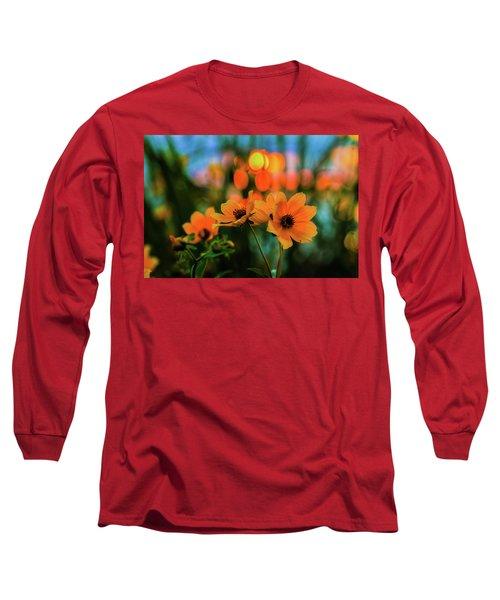 Sunflower Bokeh Sunset Long Sleeve T-Shirt