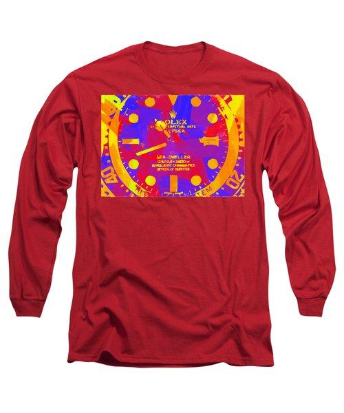 Abstract Rolex Digital Paint 8 Long Sleeve T-Shirt