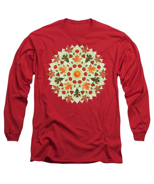 Autumn Mandala Long Sleeve T-Shirt