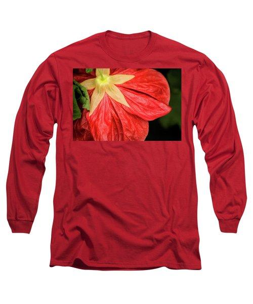 Back Of Red Flower Long Sleeve T-Shirt