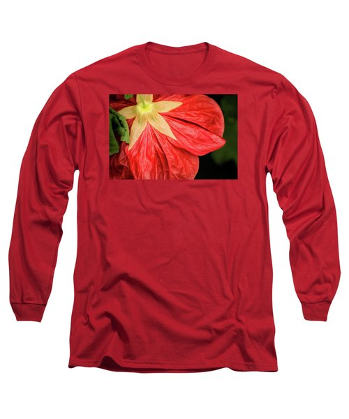 Back Of Red Flower Long Sleeve T-Shirt