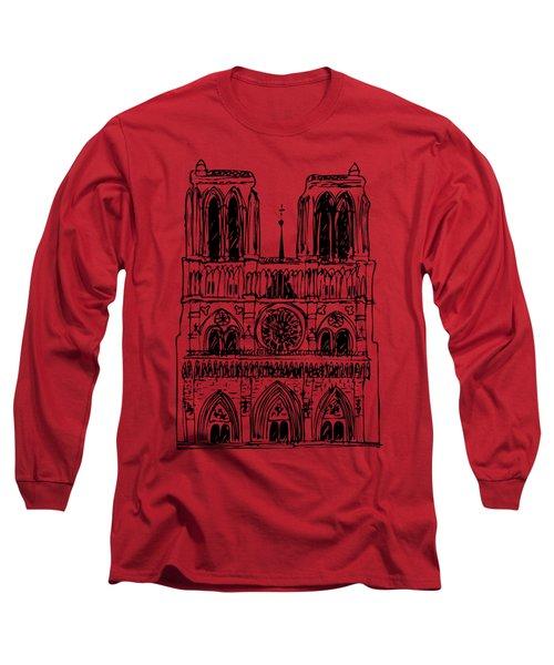 Basilica Notre Dame Long Sleeve T-Shirt