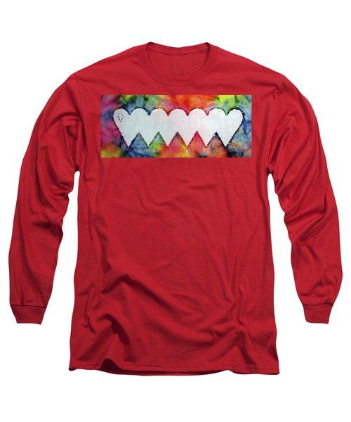 Be Still My Beaded Hearts Long Sleeve T-Shirt