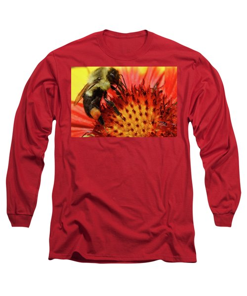 Bee Red Flower Long Sleeve T-Shirt