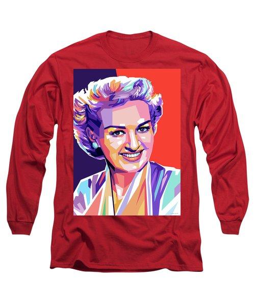 Betty Grable Pop Art Long Sleeve T-Shirt