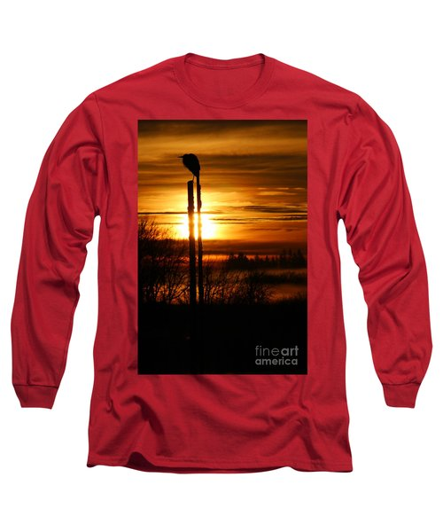 Blue Heron Sunrise 2 Long Sleeve T-Shirt
