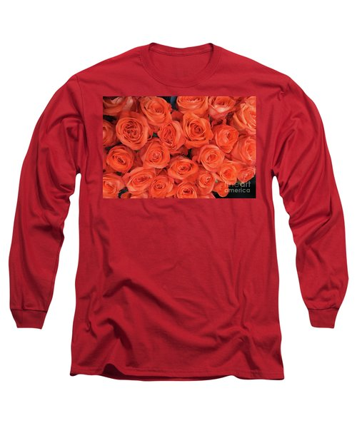 Bouquet Of The  Living Coral Roses Long Sleeve T-Shirt