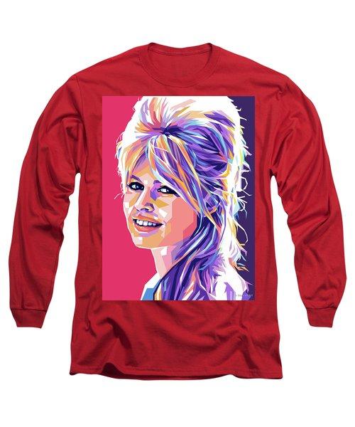 Brigitte Bardot Pop Art Long Sleeve T-Shirt